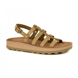 Women Anatomic Leather Sandal S318 ELLA  -  KAKY BRUSH - Fantasy sandals