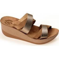 Women Anatomic Leather Sandal S5001 - Aria - Moka Dot - Fantasy sandals