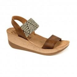 Women Anatomic Leather Sandal S5012- Destiny - Taupe Macrame - Fantasy sandals
