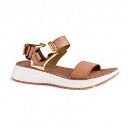 Women Anatomic Leather Sandal S81 - Leona - Aragosta Rosegold - Fantasy sandals