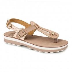 Women Anatomic Leather Sandal S9005 Marlena - Rosegold Capitone - Fantasy sandals