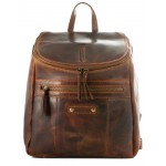 leather backpack unisex kion in waxy milled leather