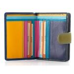 multicoloured ladies' leather wallet kion - 19263 M
