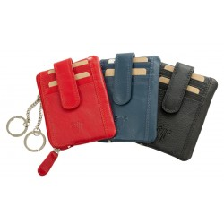 unisex leather credit card case key case nappa