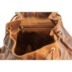 leather backpack unisex kion in waxy mileed leather